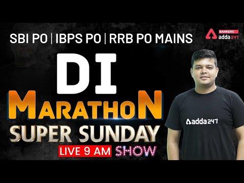 SBI PO | IBPS PO | RRB PO MAINS | Sunday Special Maths Marathon | DI Marathon