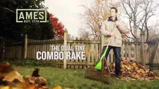 Dual Tine Combo Leaf Rake