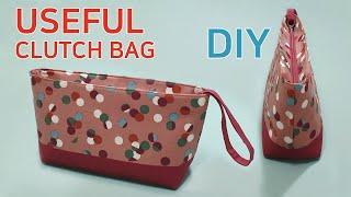 DIY Useful Clutch Bag/Sharing An Easy Way To Create A Bags Entrance/클러치백 만들기/지퍼입구 쉽게 바느질하기