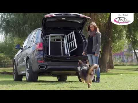 Hundebox für Auto, Single Hundetransportbox | TecTake