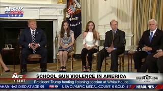 SCHOOL GUN Violence In America: President Trump Talks To Survivors and Victim Families