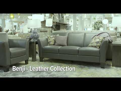 Benji Leather Sofa By Thomas Cole Designs Hom Furniture