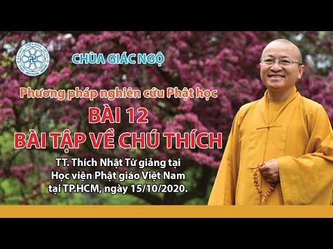 Bài tập về chú thích - Phương pháp nghiên cứu Phật học
