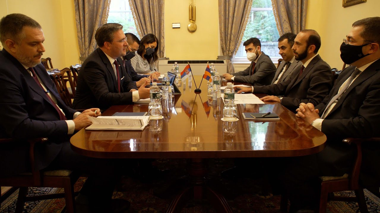 Meeting of Foreign Ministers of Armenia and Serbia