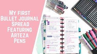 My FIRST Bullet Journal Spread Featuring Arteza Pens