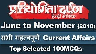 Pratiyogita Darpan Current Affairs 2018 June to November