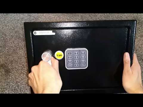 Yale Electronic Safe Unboxing And Setup
