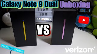 Samsung Galaxy Note 9 Unboxing (Ocean Blue & Lavender)