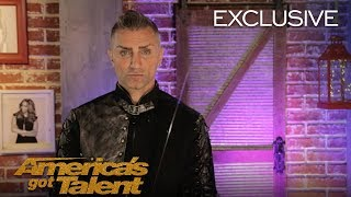 The Mysterious Aaron Crow Says A Lot Without Talking - America's Got Talent 2018