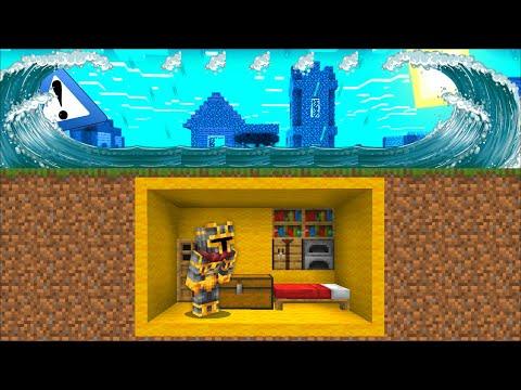 Minecraft TSUNAMI APOCALYPSE DISASTER VILLAGE MOD / BUILD BUNKER TO SAVE VILLAGERS! Minecraft Mods
