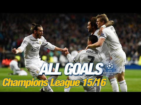 Every Champions League goal 2015/16 | Ramos Bale Cristiano penalties in Milan & a record 8-0 win!