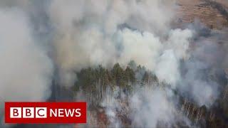 Czarnobyl: Kiedy ogień uderza w post-nuklearną pustynię – BBC News w jezyku angielskim
