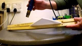 Bending Depron or EPP with heat gun.