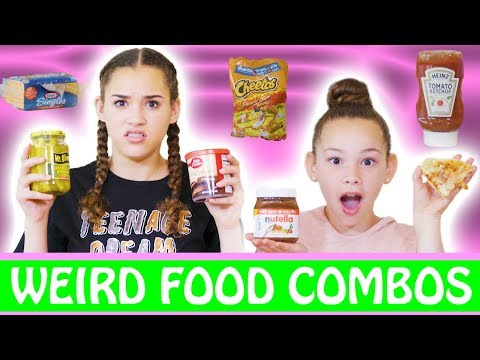Trying Weird Food Combinations That People Actually Love (Haschak Sisters)