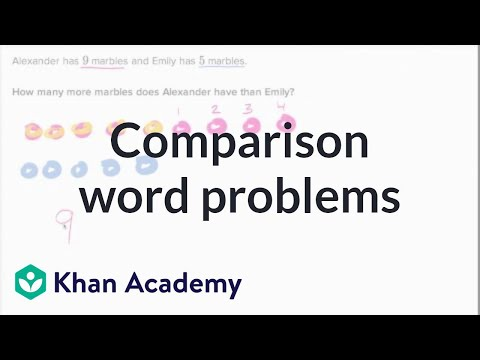Comparison Word Problems Marbles Video Khan Academy