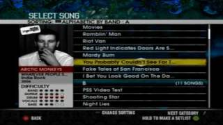 Rock Band 2 Drum Custom : Arctic Monkeys - You Probably Couldn't See...