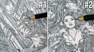 10 Most Detailed Drawings EVER!! (over 300 hours of work)