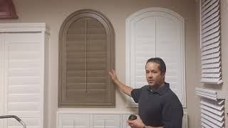 Leg Height of Arched Shutters