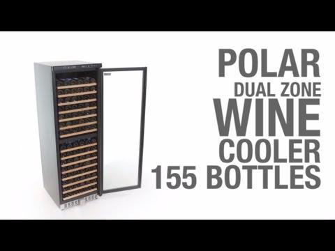 polar cave vin double zone de temp rature 155 bouteilles 595x680x1805 h mm. Black Bedroom Furniture Sets. Home Design Ideas