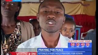 Kitengela kids hold prayers for Kenya ahead of general elections
