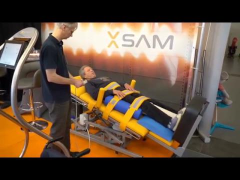 XSAM-Kippliege auf RehaB Messe - Premiere