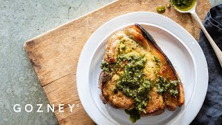 Pork Chop with Sage and Walnut Pesto | Roccbox Recipes | Gozney