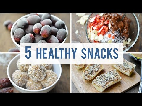 Video 5 EASY + HEALTHY SNACKS | Satisfy Your Sweet Tooth