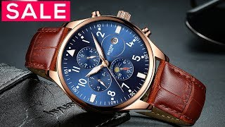 Top 10 Best Watches For Men Under $50 - New Fashion Leather Watches