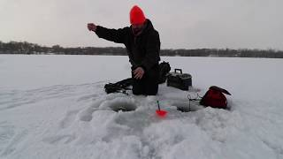 Ice Fishing 2020, First Time On The Ice