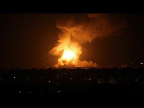 العرب اليوم - شاهد: قصف إسرائيلي على غزة ردًا على إطلاق صواريخ من القطاع