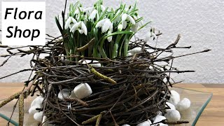 Frühlings Tischdeko Mit Schneeglöckchen ❁ Deko Ideen Mit Flora Shop