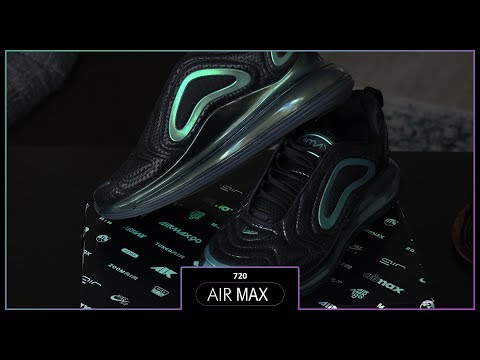 49ce200cff NIKE AIR MAX 720 'IRIDISCENT' (GREEN/BLACK REVIEW, UNBOXING, ON FEET ...
