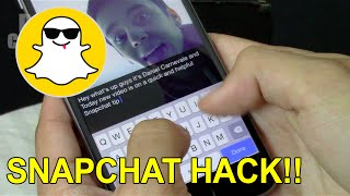 SnapChat Easy Hack/ Glitch!! (Longer Text Space)