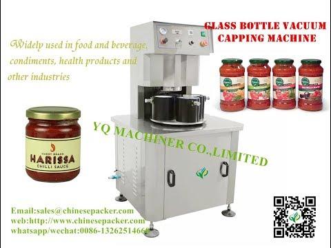 Semi auto Vacuum jar sealing machine For Glass Bottle Cans Capper Máquina de sellado al vacío