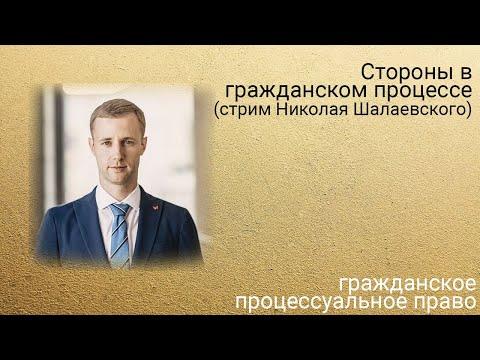 Стороны в гражданском процессе (стрим Николая Шалаевского)