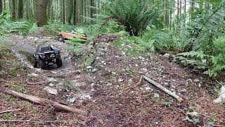 Rc 4WD Crawling on board camera FPV Carisma SCA-1E Rabge roger brat and coyote footage