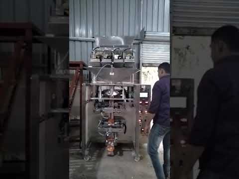 4 head chips packaging machine