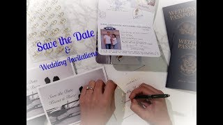 Our Wedding Invitation & Save The Date Journey /////// Our Destination Wedding