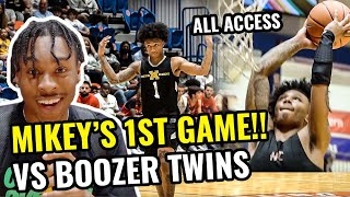 Mikey Williams' 1ST GAME Behind The Scenes! JuztJosh Got TOO HYPE 😭 Boozer Twins Go Off