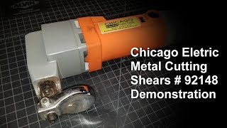 Chicago Electric Metal Cutting Shears # 92148 Demonstration