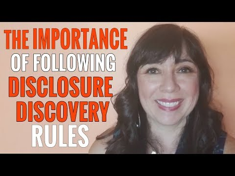DISCLOSURE & DISCOVERY Rules For Child Custody
