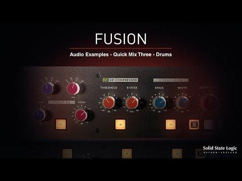 SSL Fusion - Quick Mix 3 - Drums