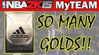 NBA 2K15 MyTeam Pack Opening - SO MANY GOLDS! - NBA 2K15 MyTeam Packs