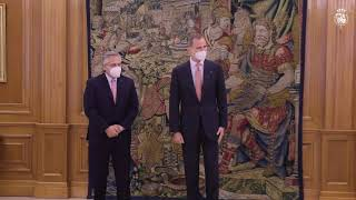 Encuentro de S.M. el Rey con el presidente de la Nación Argentina, Sr. Alberto Fernández