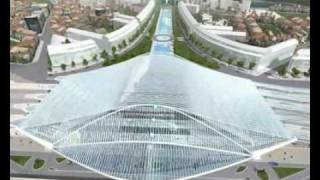 The future train station in Liège by Santiago Calatrava