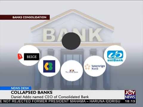 Daniel Addo Named CEO of Consolidated Bank - News Desk on JoyNews (2-8-18)