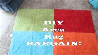 Bargain DIY Area Rug...SO CUTE! Less than $7!