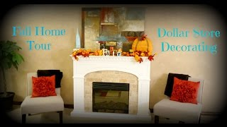 Fall Home Tour - Dollar Store Decorating