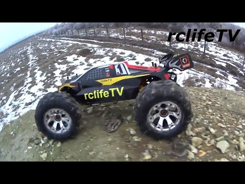 Rc Car Jumping Backflips OFF ROAD 4x4 HPI Trophy Truggy Flux