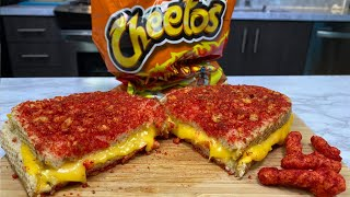 Flaming Hot Cheetos Grilled Cheese Sandwich